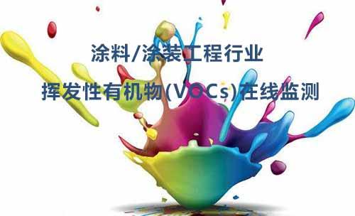 涂料/涂装行业挥发性有机物(VOCs)在线监测应用方案